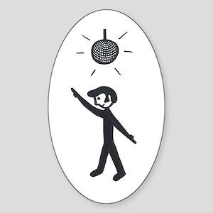 'Disco Ball' Sticker (Oval)