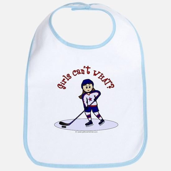 Light Hockey Girl Bib
