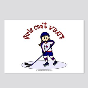 Light Hockey Girl Postcards (Package of 8)