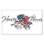Horses4Heroes Logo Sticker