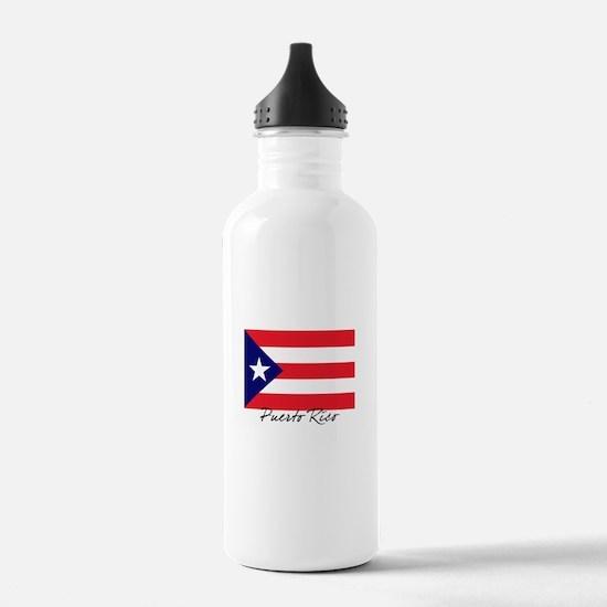 Puerto Rican Flag Water Bottle