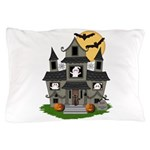 Halloween Haunted House Ghosts Pillow Case