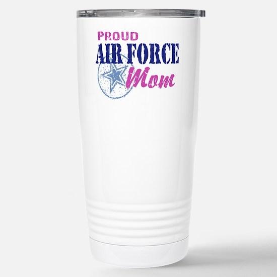 Proud Air Force Mom Stainless Steel Travel Mug