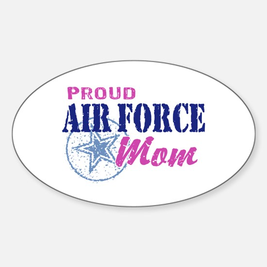 Proud Air Force Mom Sticker (Oval)