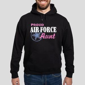 Proud Air Force Aunt Hoodie (dark)