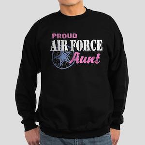 Proud Air Force Aunt Sweatshirt (dark)