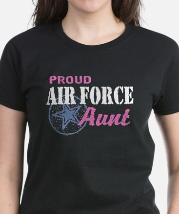 Proud Air Force Aunt Women's Dark T-Shirt