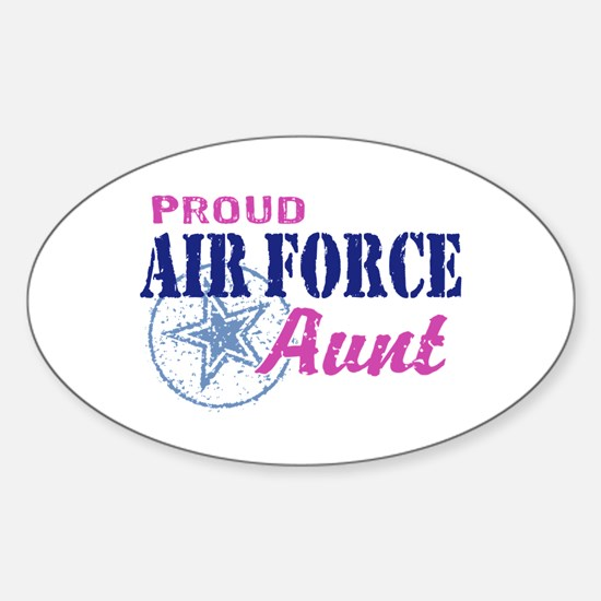 Proud Air Force Aunt Sticker (Oval)