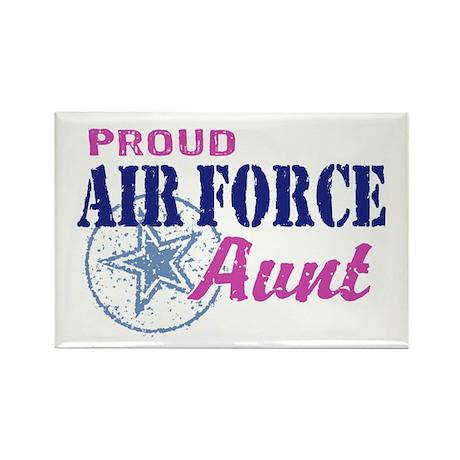 Proud Air Force Aunt Rectangle Magnet
