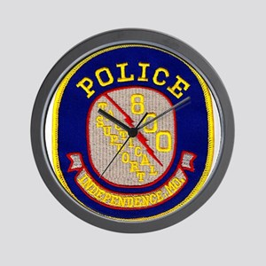 Independence Police Tac Wall Clock