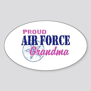 Proud Air Force Grandma Sticker (Oval)