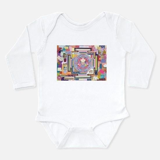Sri Yantra Collage Long Sleeve Infant Bodysuit