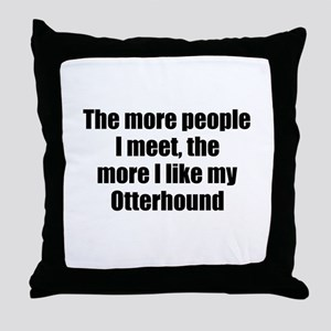 Otterhound Throw Pillow
