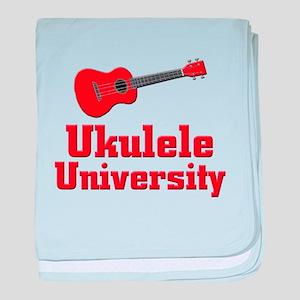 red ukulele baby blanket