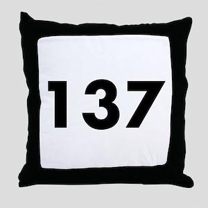 137 Throw Pillow