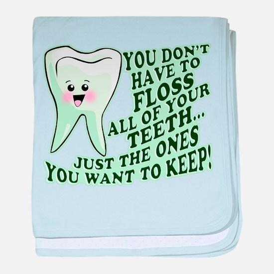 Funny Dental Hygiene baby blanket