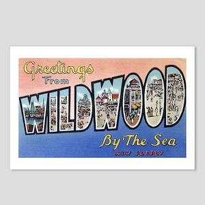 Vintage Wildwood Postcard Postcards (Package of 8)