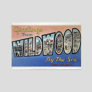 Vintage Wildwood Postca Rectangle Magnet (10 pack)