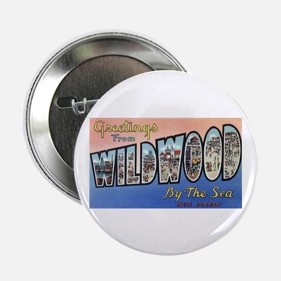 "Vintage Wildwood Postcard 1 2.25"" Button (10 pack)"