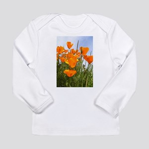 Orange California Poppies Long Sleeve Infant T-Shi