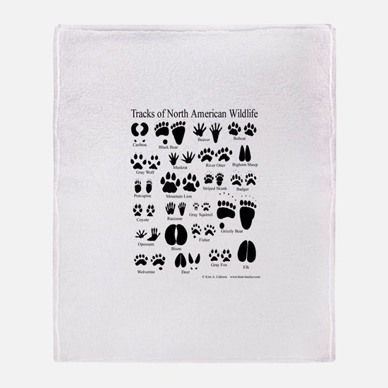 Animal Tracks Guide Throw Blanket