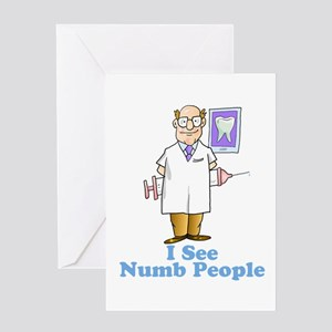 I See Numb People Greeting Card