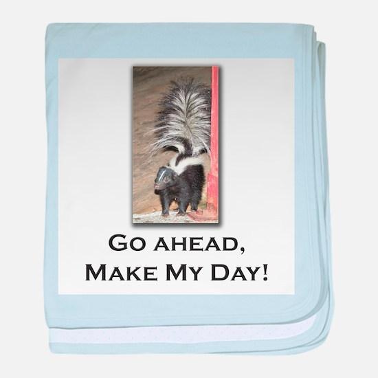 Make My Day Skunk baby blanket