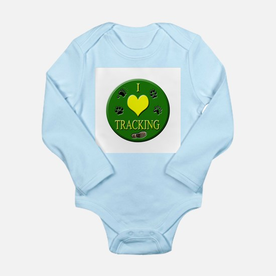 I Love Tracking Long Sleeve Infant Bodysuit