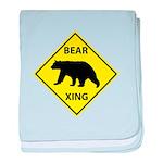 Bear Crossing baby blanket