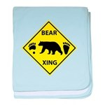 Bear and Tracks XING baby blanket