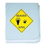 Beaver Crossing baby blanket