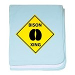 Bison Crossing baby blanket