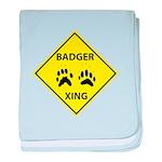 Badger Crossing baby blanket