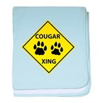 Cougar Mountain Lion Crossing baby blanket