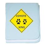 Coyote Crossing baby blanket