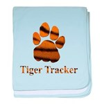 Tiger Tracker baby blanket