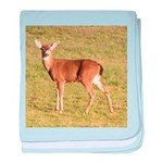 Forked Horn Buck baby blanket
