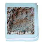 Real Bear Track baby blanket