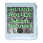Save Idaho Wolves baby blanket