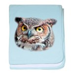 Great Horned Owl Face baby blanket