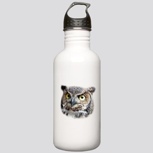Great Horned Owl Face Stainless Water Bottle 1.0L
