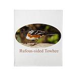 Rufous-sided Towhee Throw Blanket