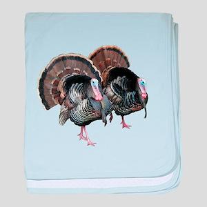 Wild Turkey Pair baby blanket