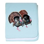 Wild Turkey Pair baby blanket