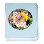 Butterfly on Flower baby blanket
