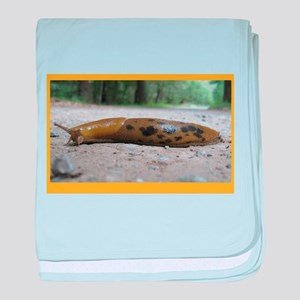 Banana Slug in Forest baby blanket