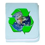 Earth Day Recycle baby blanket