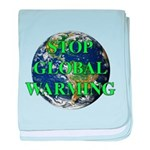 Stop Global Warming baby blanket