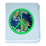 Earth Peace Symbol baby blanket