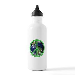 Earth Peace Symbol Water Bottle